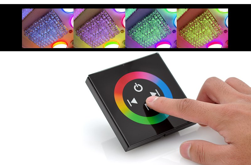 RGB LED Controller - Glass Touch Panel-free world ship