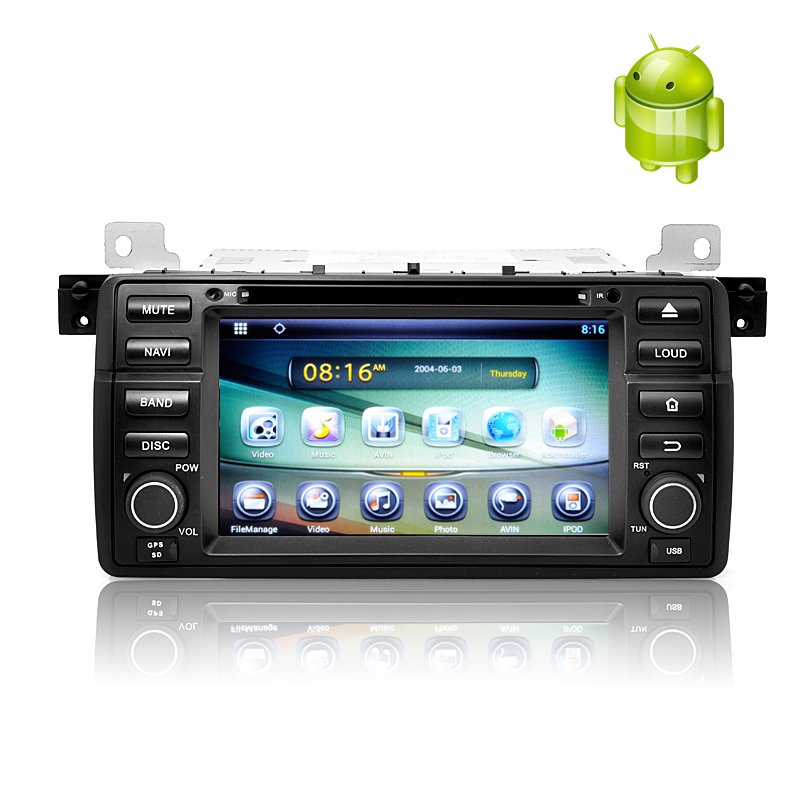 1 DIN Android 4.2 Car DVD Player for BMW E46-Free wor�d ship