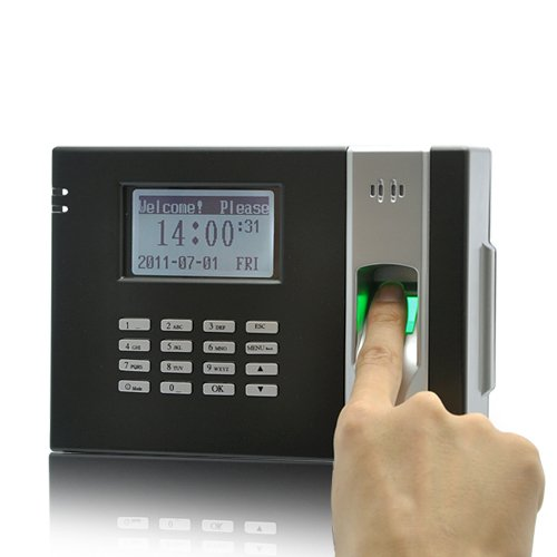 Fingerprint Time Attendance And Door System (Black)-free world ship