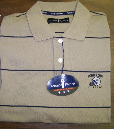 HL Golf Shirt - Brown - Large - Arnold Palmer