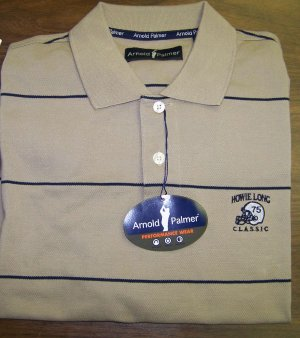 HL Golf Shirt - Brown - Large - Arnold Palmer