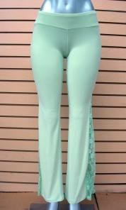Lace-side pants size S