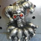 Silver jester skull