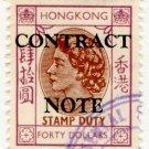 (I.B) Hong Kong Revenue : Contract Note $40