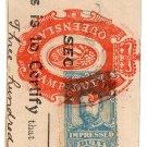 (I.B) Australia - Queensland Revenue : Impressed Duty 2/6d