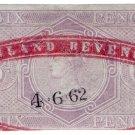 (I.B) QV Revenue : Inland Revenue 6d Lilac (SG F11)
