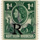 (I.B) Northern Rhodesia Revenue : Duty Stamp 1d
