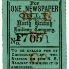 (I.B) North British Railway : Newspaper Parcel