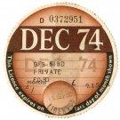 (I.B) GB Revenue : Car Tax Disc (Ford 1974)