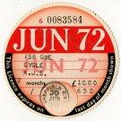 (I.B) GB Revenue : Car Tax Disc (AJS Motorcycle 1972)