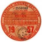 (I.B) GB Revenue : Car Tax Disc (Ford 1957)