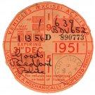 (I.B) GB Revenue : Car Tax Disc (Bedford Goods 1951)