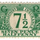 (I.B) George V Revenue : Unemployment Insurance 7½d