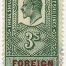 (I.B) Edward VII Revenue : Foreign Bill 3/- (H&SBC pre-cancel)