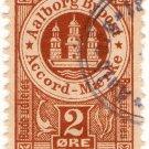 (I.B) Denmark Local Post : Aalborg Registered Mail 2 Øre