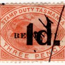 (I.B) Australia - Tasmania Revenue : Stamp Duty 1d on 3d OP
