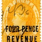 (I.B) St Lucia Revenue : Duty Stamp 4d