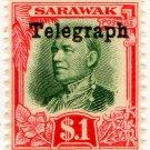 (I.B) Sarawak Telegraphs : Overprint $1
