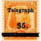 (I.B) Sarawak Telegraphs : Overprint $5
