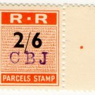 (I.B) Rhodesia Railways : Parcels Stamp 2/6d