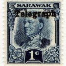 (I.B) Sarawak Telegraphs : Overprint 1c