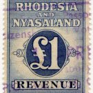 (I.B) Rhodesia & Nyasaland Revenue : Duty £1