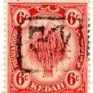 (I.B) Malaya States Revenue : Kedah (Japanese Occupation) 6c OP (inverted)