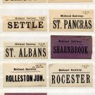 (I.B) Midland Railway : Parcel Label Collection