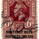 (I.B) George V Revenue : Contract Note (Northern Ireland) 6d