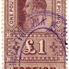 (I.B) Edward VII Revenue : Foreign Bill £1