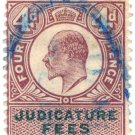 (I.B) Edward VII Revenue : Judicature Fees 4d