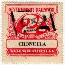 (I.B) Australia - NSW Railways Parcel 2/- (Cronulla)