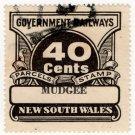 (I.B) Australia - NSW Railways Parcel 40c (Mudgee)