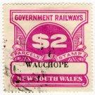 (I.B) Australia - NSW Railways Parcel $2 (Wauchope)