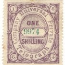 (I.B) Universal Telegraph Company : 1/- Lilac & Green