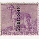 (I.B) QV Revenue : Ireland Dog Licence 2/- (1865)