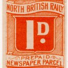 (I.B) North British Railway : Newspaper Parcel 1d