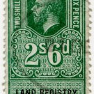 (I.B) George V Revenue : Land Registry (Northern Ireland) 2/6d