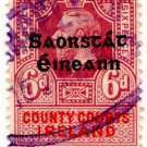 (I.B) George V Revenue : County Courts Ireland 6d OP