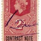 (I.B) Elizabeth II Revenue : Contract Note (Northern Ireland) 2/-