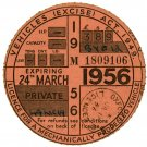 (I.B) GB Revenue : Car Tax Disc (Lancia 1956)
