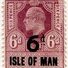 (I.B) Edward VII Revenue : Isle of Man 6d