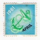 (I.B) Cinderella : Royal Navy Cigarette Ration Stamp (1981)