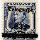 (I.B) Sarawak Telegraphs : Overprint $3 on 12c
