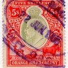 (I.B) Orange River Colony Revenue : Duty 5/-