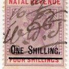 (I.B) Natal Revenue : Duty Stamp 1/- on 4/- OP