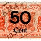 (I.B) Netherlands Railway : Parcel Stamp 50c