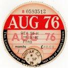 (I.B) GB Revenue : Car Tax Disc (Ford 1976)