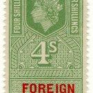 (I.B) Elizabeth II Revenue : Foreign Service 4/-