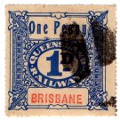 (I.B) Australia - Queensland Railways : Parcel 1d (Brisbane)
